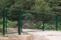 ворота, калика и забор из 3д сетки