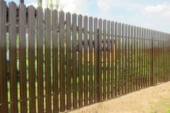 Зелёный забор из евроштакетника