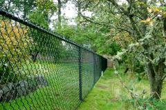 зелёный металлический забор