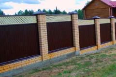 комбинированный модульный забор