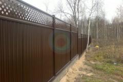 Сплошной модульный забор