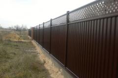 Модульный забор коричневый