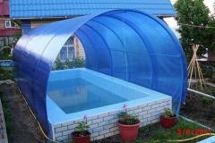 Сферический навес из поликарбоната для бассейна