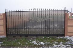 ковано-сварные откатные ворота