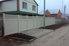 забор из пластиковых дпк панелей