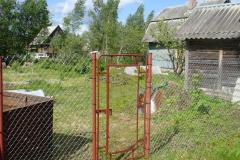 Забор из рабицы в натяжку