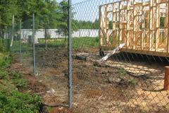 Забор из рабицы серый