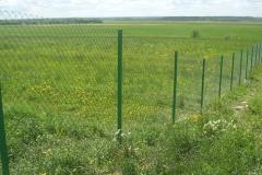 Забор из рабицы зеленый