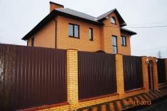 Металлический забор из профлиста комбинированый