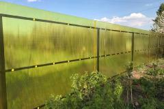 Забор для дачи поликарбонат