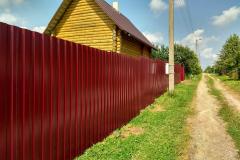 Забор для дачи сплошной