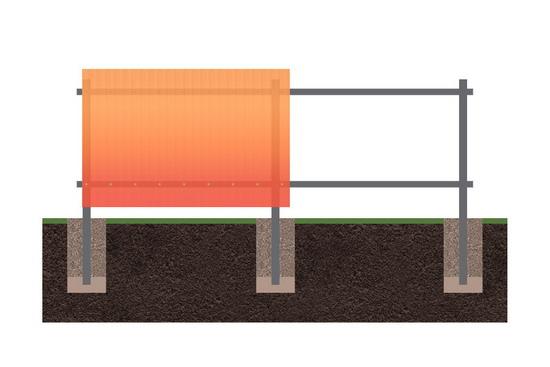 Забор из поликарбоната 2