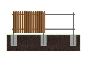 Забор из евроштакетника -тип забора №3