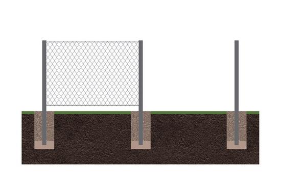 Забор  рабица 4