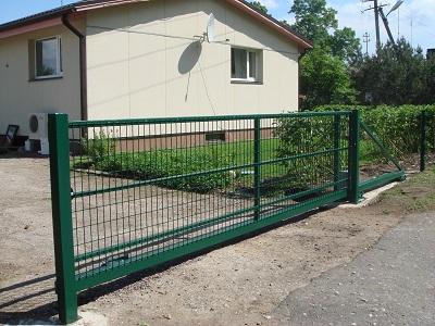 Откатные ворота из 3D сетки