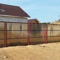Забор секционный из поликарбоната
