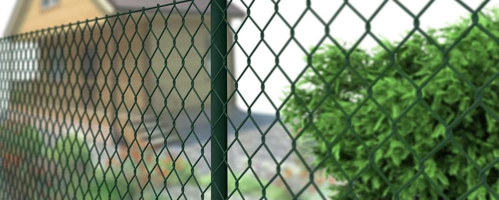 Забор из рабицы с ПВХ покрытием