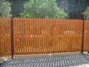 Забор с зазором